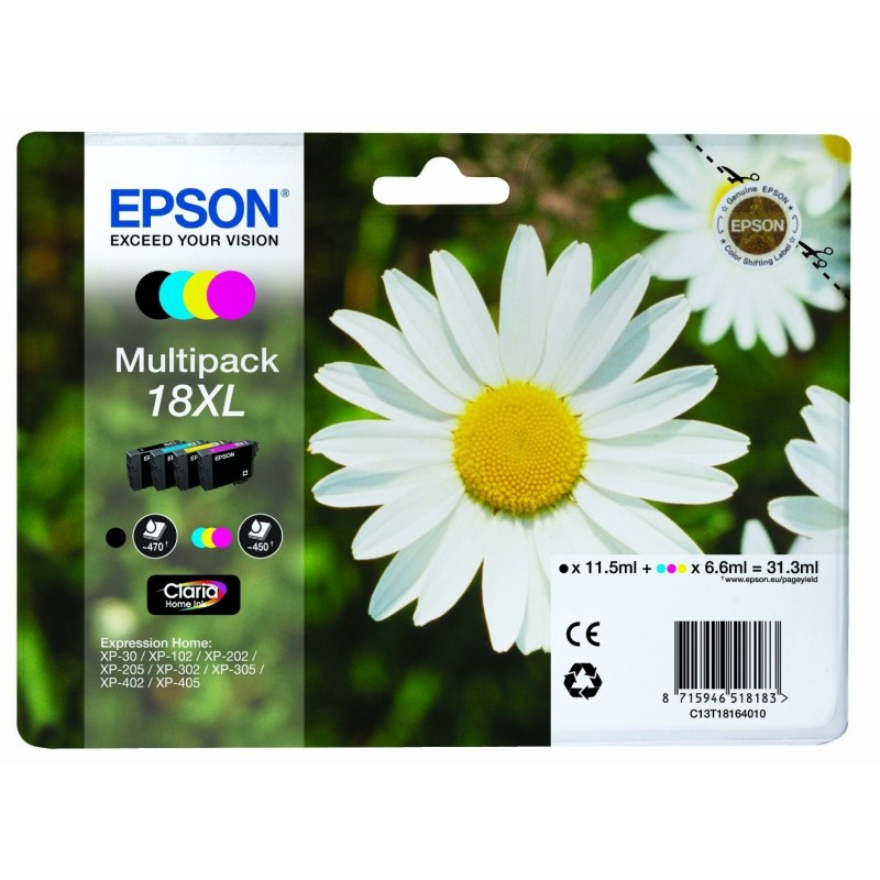EPSON Multipack Cartuccia Originale 18 XL