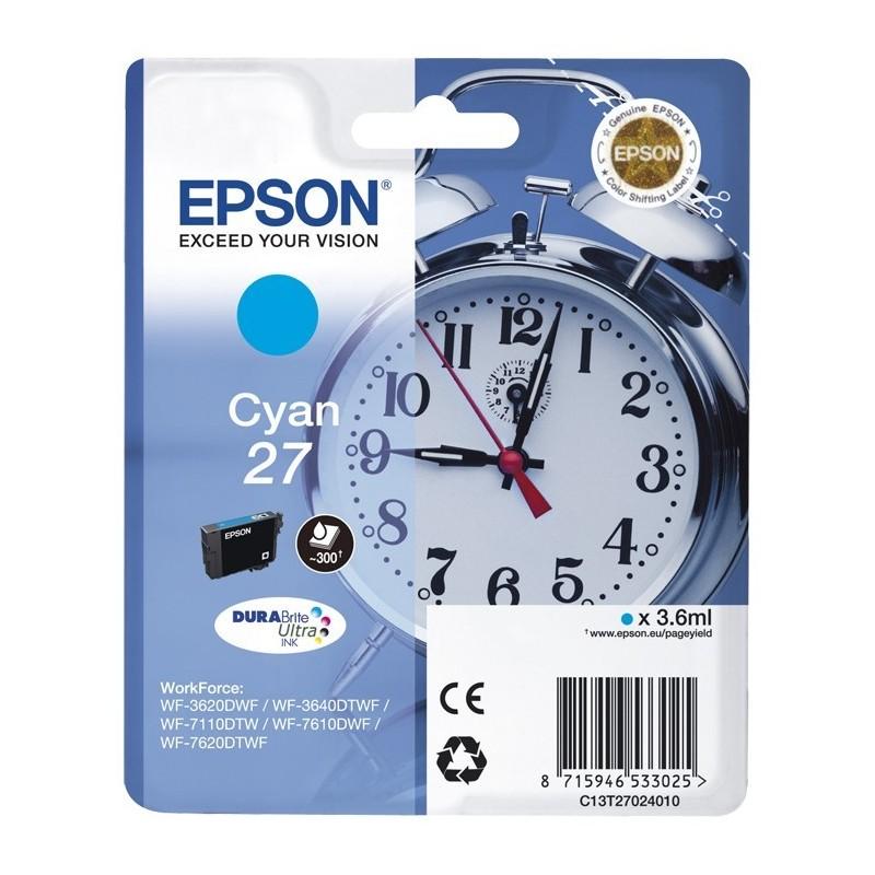 EPSON Cartuccia originale 27 - CIANO - T2702