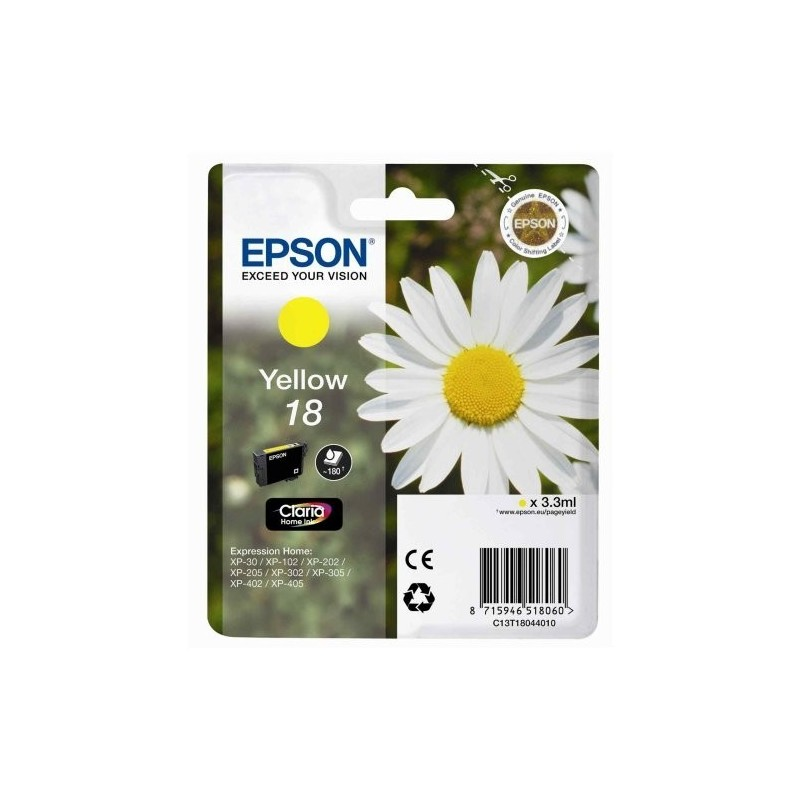 EPSON Cartuccia originale 18 - T1804 - 3.3ml - GIALLO
