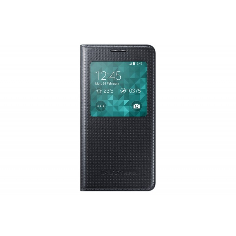 Samsung Galaxy Alpha S View Cover Nero