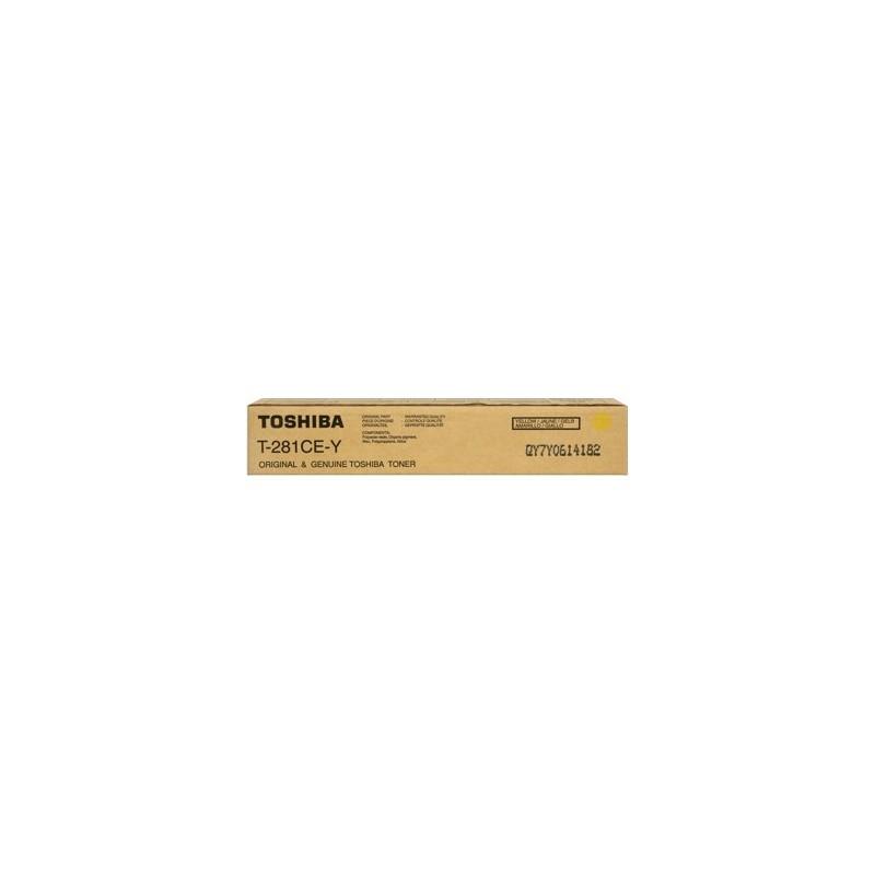 TOSHIBA TONER ORIGINALE GIALLO T-281CE-Y PER e-STUDIO 281 351 451