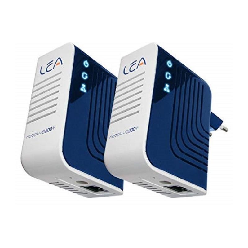 POWERLINE NetPlug 200+ KIT 2 ADATTATORI 200 Mb/s RETE ELETTRICA IN RETE LAN ETHERNET