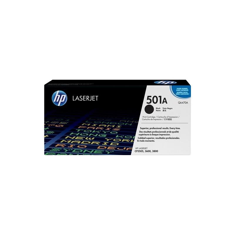 HP Q6470A 501A TONER ORIGINALE NERO LaserJet 3600 3800