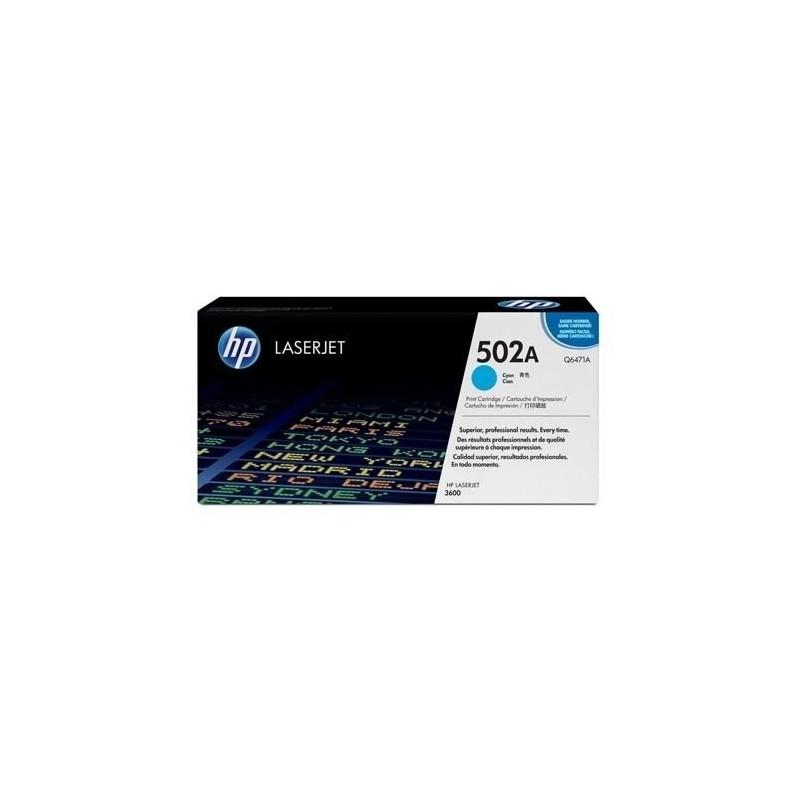 HP Q6471A 502A TONER ORIGINALE CIANO LaserJet 3600