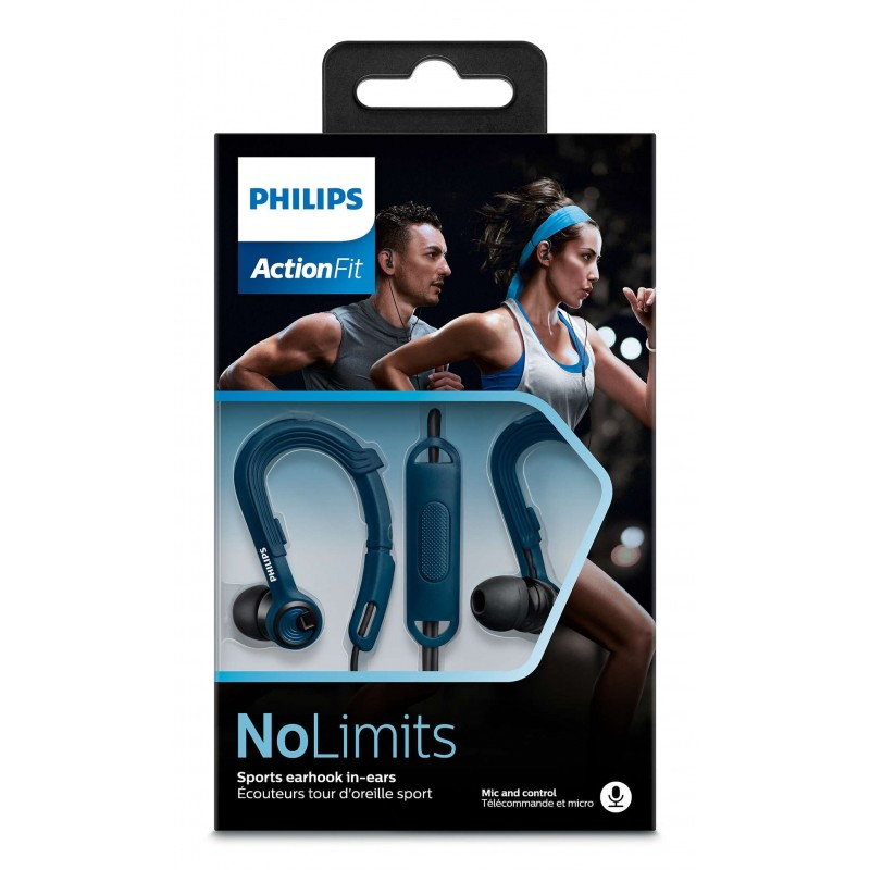Philips SHQ3405BL Actionfit Cuffie Sportive con Microfono Blu