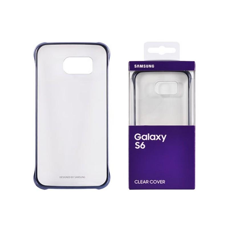 SAMSUNG - Galaxy S6 - Clear Cover - EF-QG920BBE Black