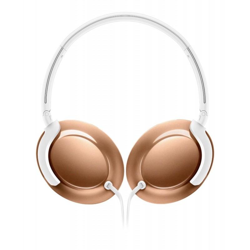 Philips SHL4805RG EverLite Cuffie Pieghevoli con Microfono per MP3 iPod Oro Rosa