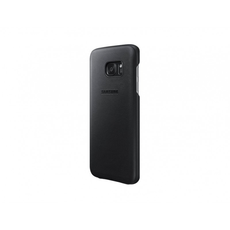 Samsung Galaxy S7 G930 Cover Custodia Leather Back Originale in pelle Nero EF-VG930LBEGWW