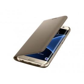 Samsung Galaxy S7 edge Flip Wallet Cover Custodia oro - ORIGINALE EF-WG935PFEGWW