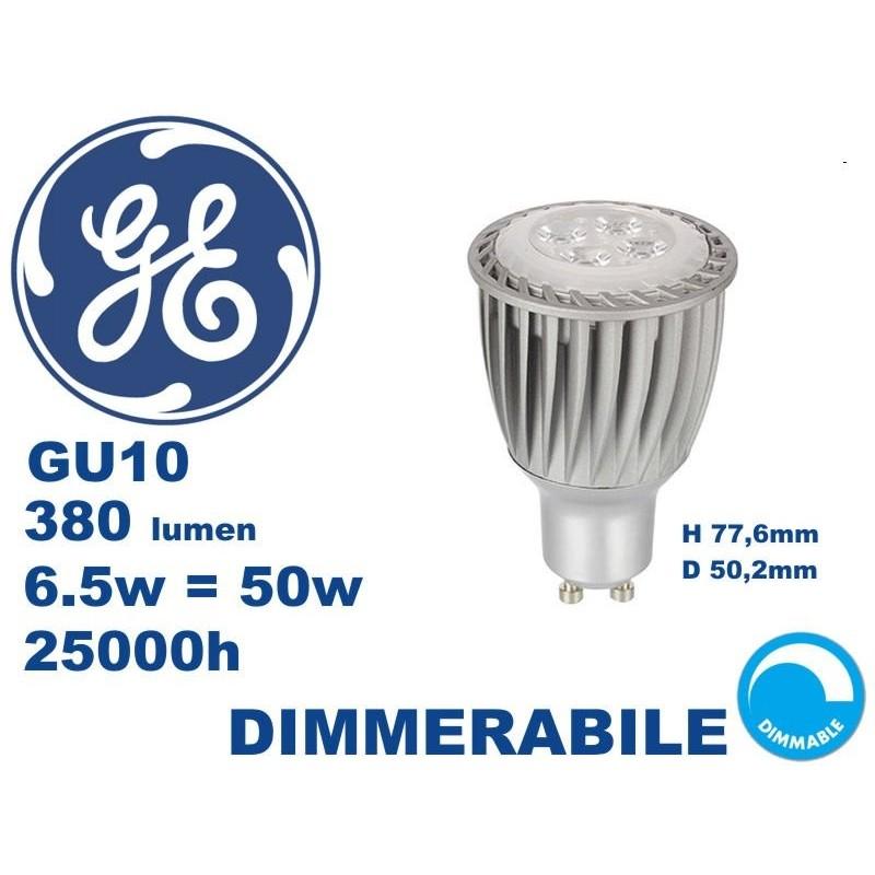 Faretto LED GE GU10 6.5w 3000k 35° DIMMERABILE