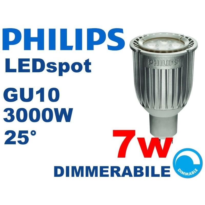 Faretto LED PHILIPS MASTER LEDspot GU10 7w 3000k 25° DIMMERABILE
