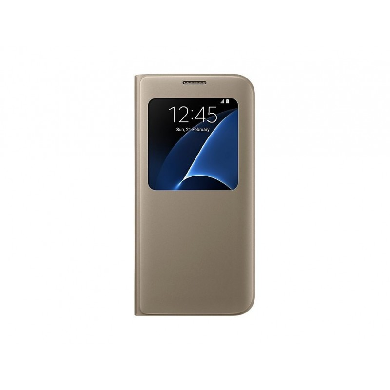 Samsung Galaxy S7 edge S VIEW COVER - Custodia oro - ORIGINALE EF-CG935PFEGWW