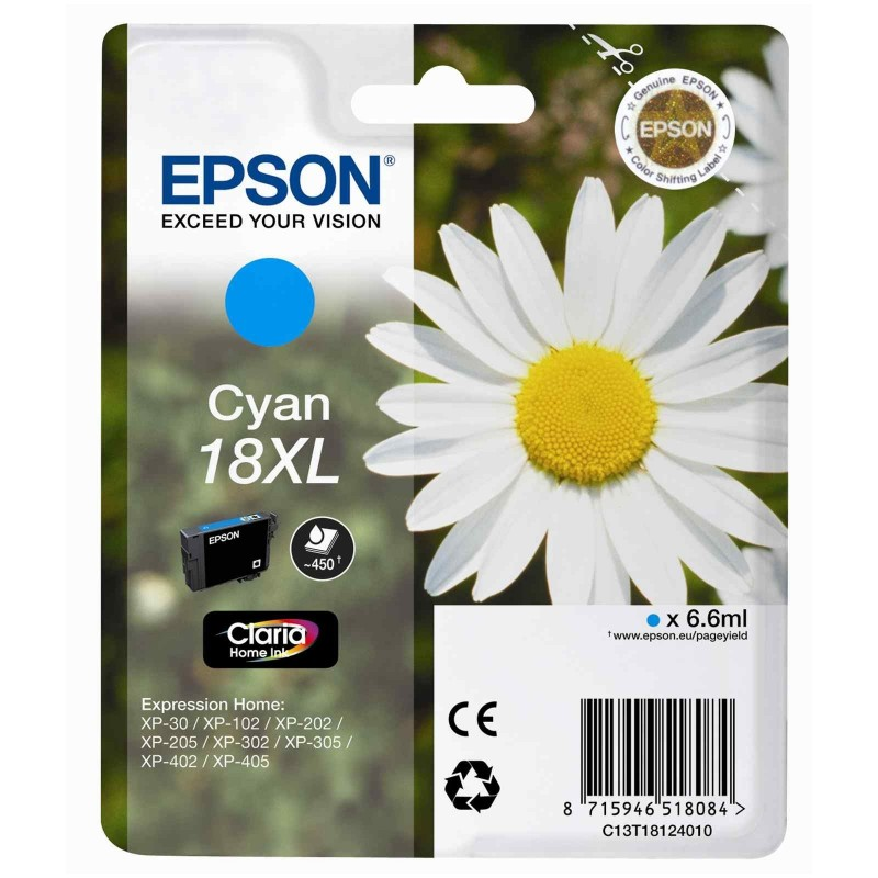 EPSON Cartuccia originale 18 XL - T1812 XL - 6.6 ml - CIANO