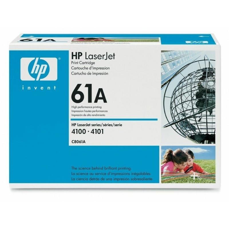HP C8061A 61A TONER ORIGINALE NERO HP LASERJET 4100 4101