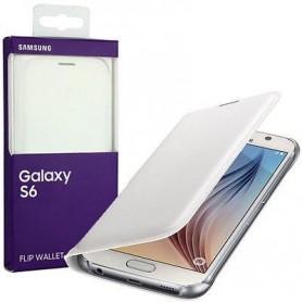 SAMSUNG Galaxy S6 Flip Wallet EF-WG920PWE - Bianco/White
